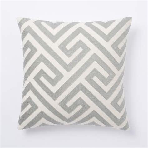Key Pillow by Crewel Key Pillow Cover Platinum West Elm