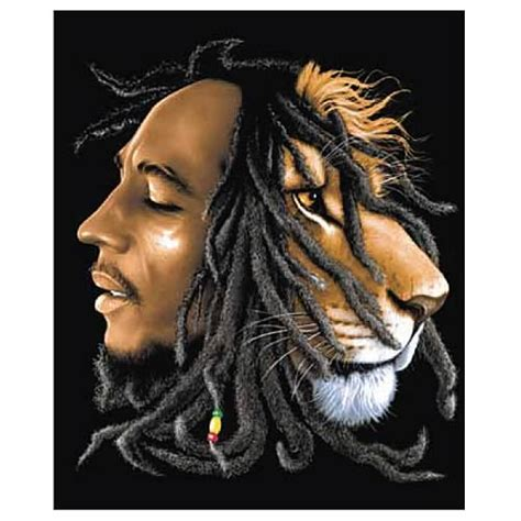 bob marley lion micro raschel fleece blanket surreal