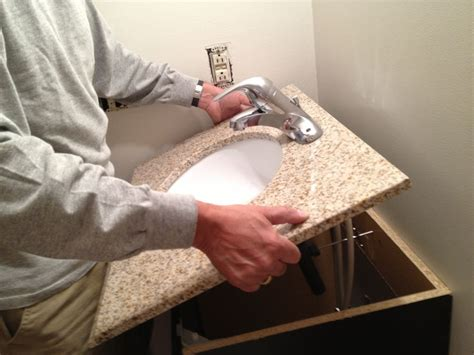 installing a vanity sink how to replace and install a bathroom vanity and sink