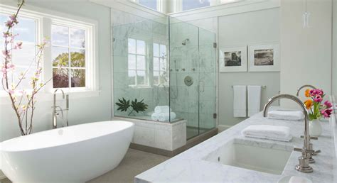 white spa bathroom spa like bathroom transitional bedroom milton