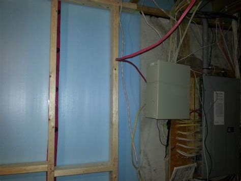 basement insulating around the electrical panel