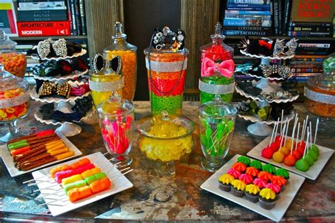 Neon Candy Table Love Love Love Cupcake Party Neon Buffet