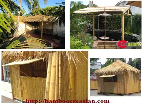 tiki hut kits quality bamboo and asian thatch 12 14 complete tiki bar