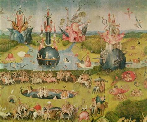 The Garden Of Earthly Delights Print by The Garden Of Earthly Delights Allegory Hieronymus