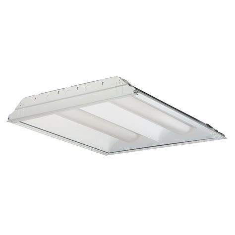 Lithonia Fluorescent Light Fixtures Lithonia Lighting 4 Light T5 White High Output Fluorescent High Bay Ibc 454 Mv The Home Depot