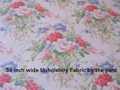 shabby chic barkclothfabric by the shabby chic fabric 1 yard floral upholstery 56 wide fabrics
