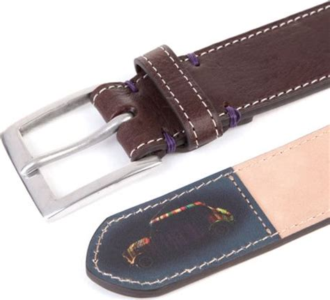 paul smith mini silhouette tip leather belt in brown for