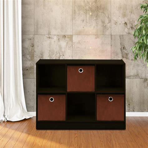 6 cube bookcase espresso llytech inc basic espresso 6 cube bookcase with storage