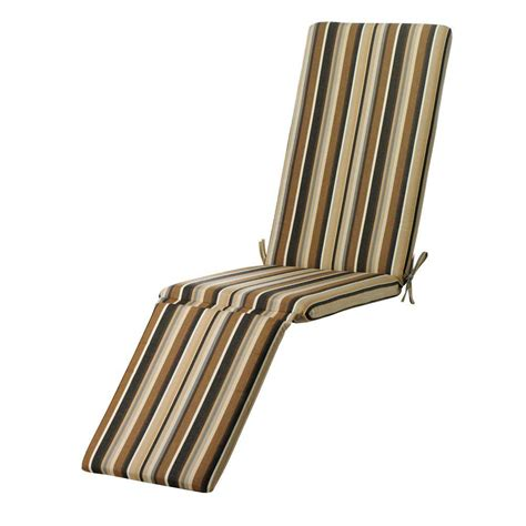 outdoor chaise cushion home decorators collection sunbrella espresso stripe