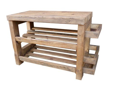 Rustic Shoe Rack by Rustic Shoe Rack With Seat And Umbrella By Captainscraftworks