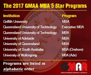 Mba Program Ranks 5 In The Nation by Australian Mba Rankings 2018 Mba News Australia