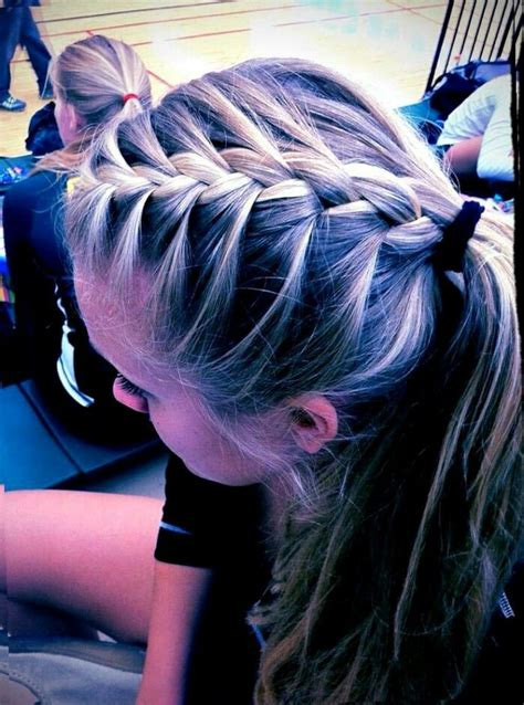 cute hairstyles for volleyball cute easy volleyball hairstyle volleyball stuff