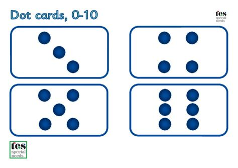 Math Dot Card Templates by Dot And Number Cards 0 10 Simple Printable Cards For