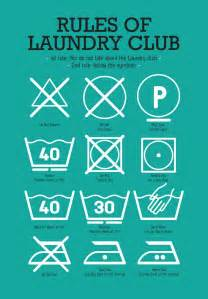 Teal Laundry Room - kitchen laundry club poster art with laundry symbols explained mid century modern decor poster