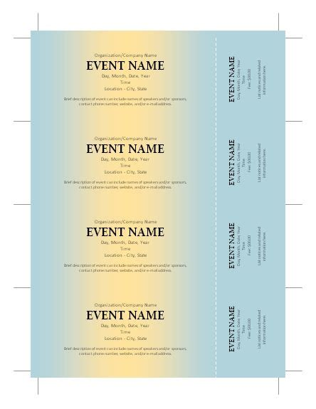 fundraising tickets templates free ticket template silent auction ticket