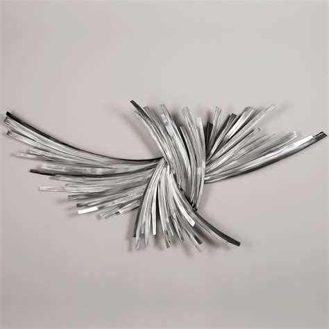 metal wall decor and sculptures infinity silver metal wall sculpture