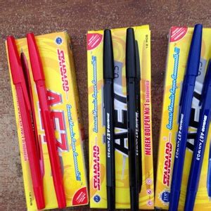 Pulpen Standar Ae 7 Murah 1 pen standard ae7 biru hitam merah pena pulpen ballpoint pen elevenia