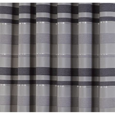 silver and white striped curtains urban living serenity silver striped readymade eyelet