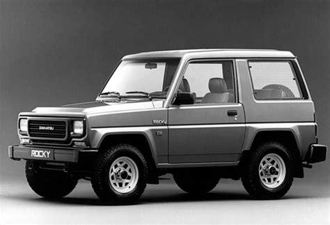 daihatsu rocky engine daihatsu rocky technical specifications and fuel economy