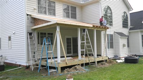 Porch Roof Construction Chesterfield Screen Porch Framing Is Completed And Ready