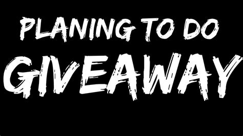 Youtubers That Do Giveaways - planning to do giveaway youtube