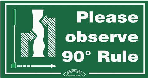 signage  observe  degree rule total turf