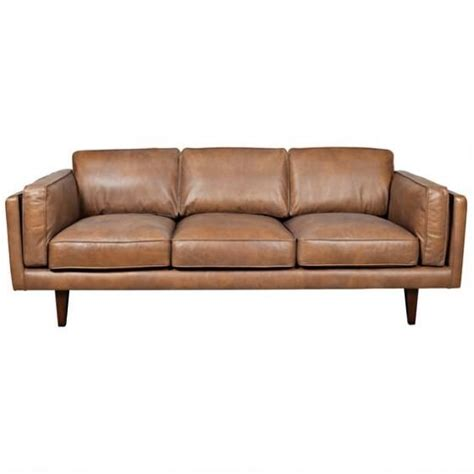 urban barn couch diego leather sofa ox tan man cave pinterest