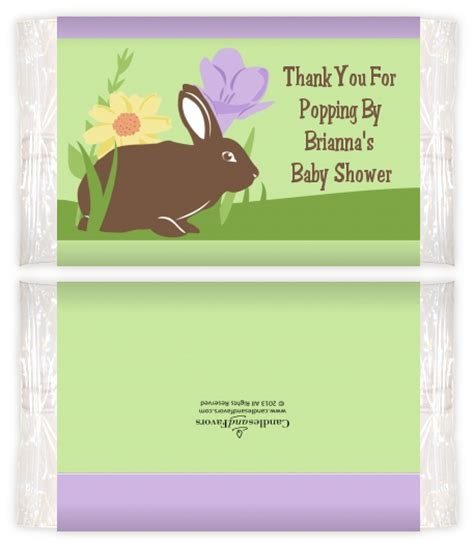 Baby Shower Popcorn Wrappers by Bunny Baby Shower Popcorn Wrappers Baby Shower Popcorn