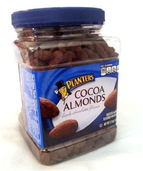 planters dark chocolate flavored cocoa almonds 37 oz