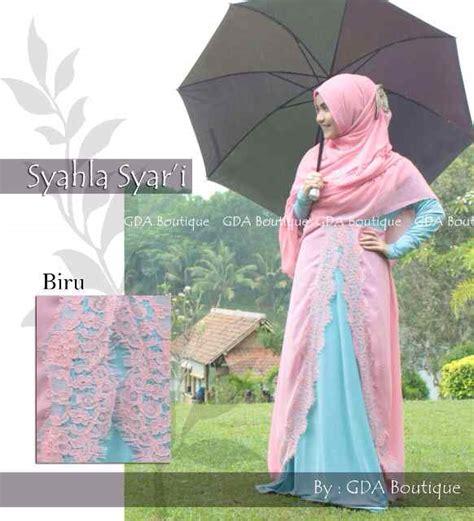 Syahla 2 By Balimo syahla syar i biru baju muslim gamis modern
