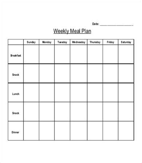 toddler meal planner template 28 meal plan templates free premium templates