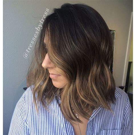 honey brown hair with blonde ombre dark brown ombre balayge with honey blonde and caramel