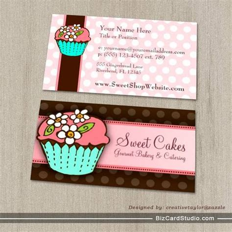 Cupcake Business Cards Templates by Flowered Cupcake Business Card