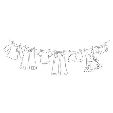 Washing Line Outline by Clothesline Digital St Freebie