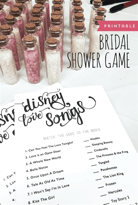 Shower Songs by Bridal Shower Disney Songs Designs By Miss