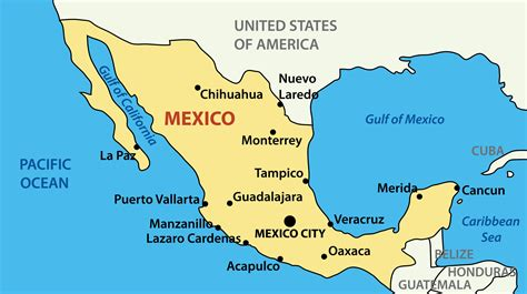 map of mexico mexico luxury yacht charters