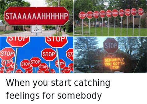 Catching Feelings Meme - when you start catching feelings for somebody stop when