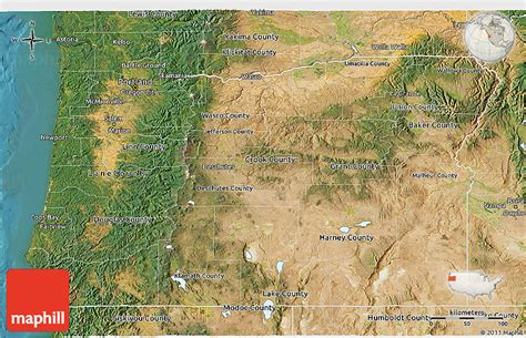 3d topographical map of oregon satellite 3d map of oregon