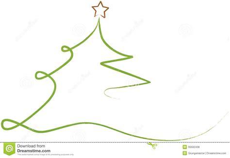 stilisierter weihnachtsbaum tree stock vector image of drawing