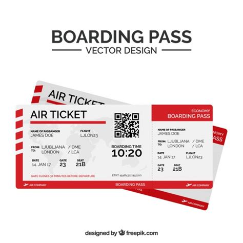 boarding pass flat boarding pass with qr code and shapes vector