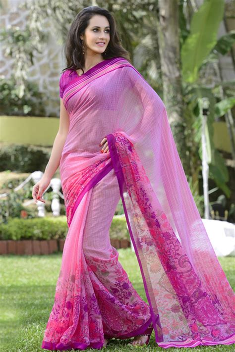 Pink Saree cheap buy pink cotton sarees shopping india pink