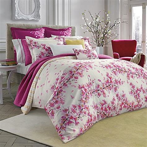 pink and white bedroom set bluebellgray 174 cherry blossom pink comforter set bed bath