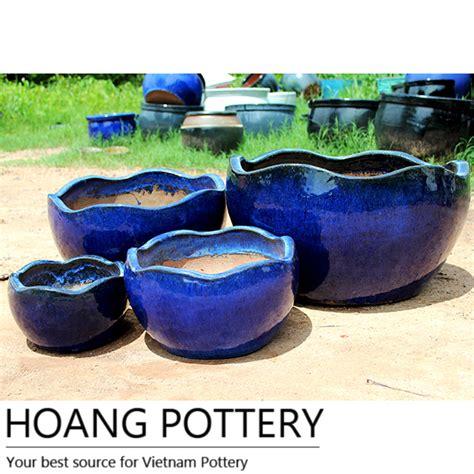 glazed ceramic pots aqua blue glazed ceramic pots hptv051 hoang pottery