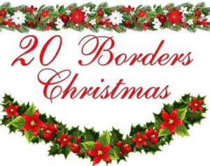 Poinsettia Christmas Candy Borders Clipart