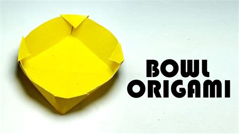 How To Make A Paper Bowl - how to make a paper bowl how to fold origami bowl easy