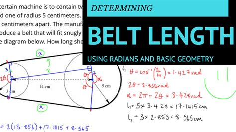 Length Of A by Finding The Length Of A Belt Using Radians And Simple
