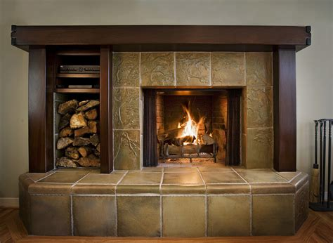 Fireplaces Pasadena Craftsman Tile For Fireplace