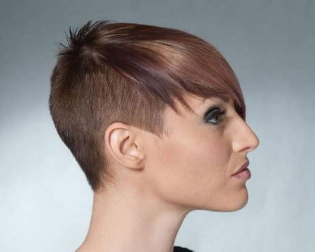 woman half shaved haircuts short shaved hairstyles for women