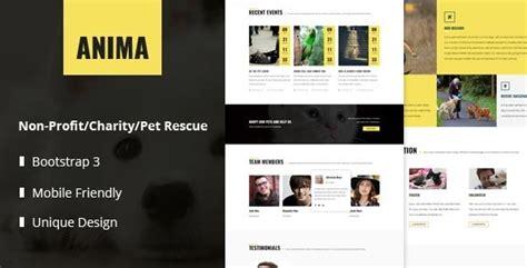15 Best Responsive Animal Pet Html Website Templates Tutorial Zone Rescue Website Template