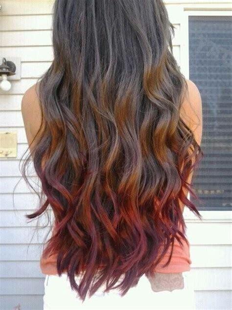 dip dyed red hairstyles red dip dye summer loving pinterest